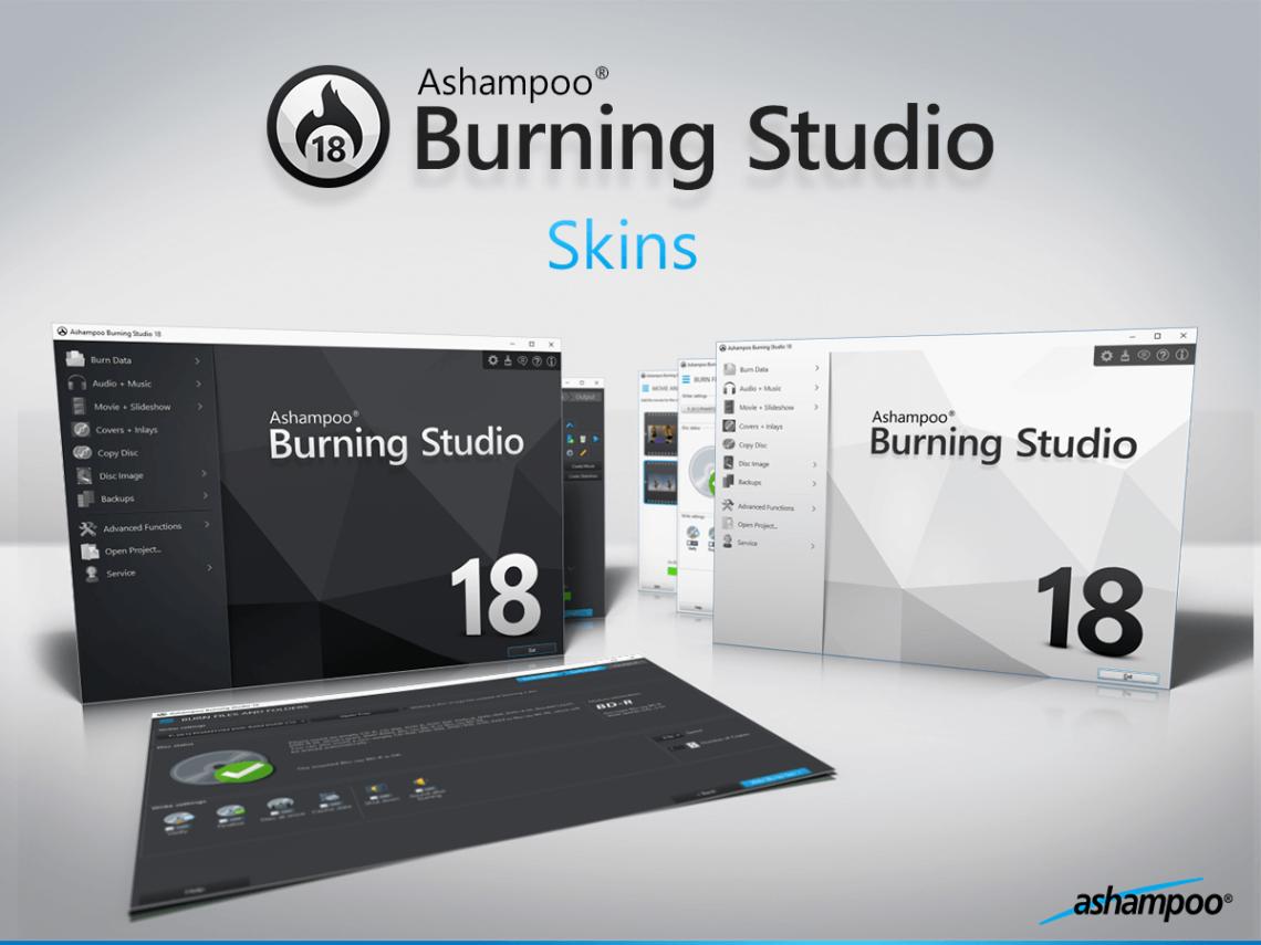 Ashampoo Burning Studio 18, CD yakıcı, DVD yakıcı