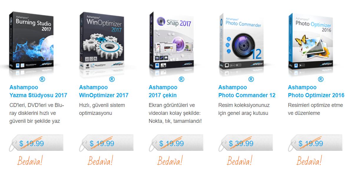 5 Ashampoo Programı