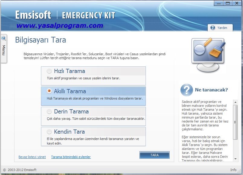 Emsisoft Emergency Kit 2.0 (Ücretsiz)