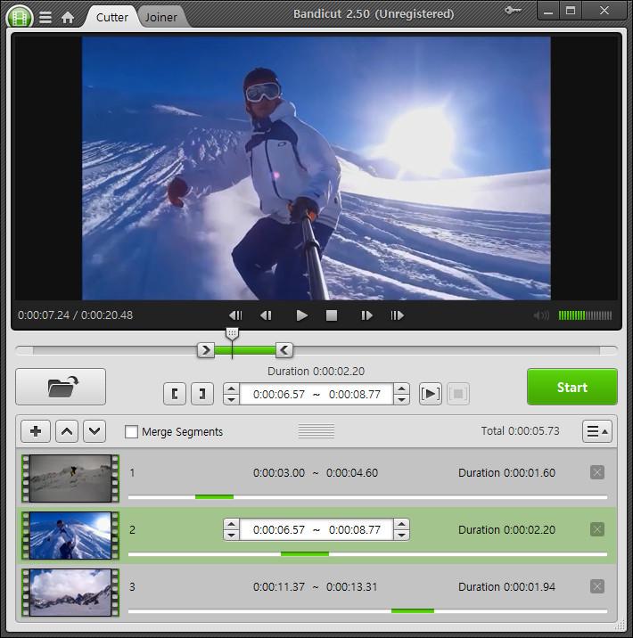 Bandicut,video kesme programı