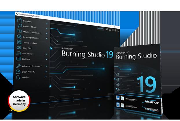 Ashampoo Burning Studio 19, CD yakıcı, DVD yakıcı