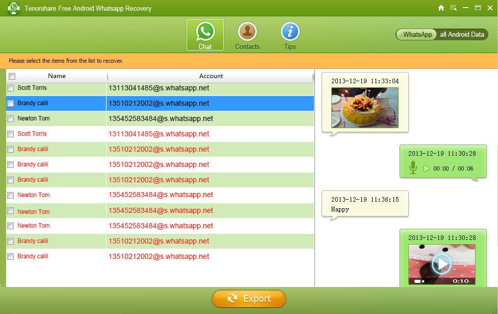 Tenorshare WhatsApp Recovery