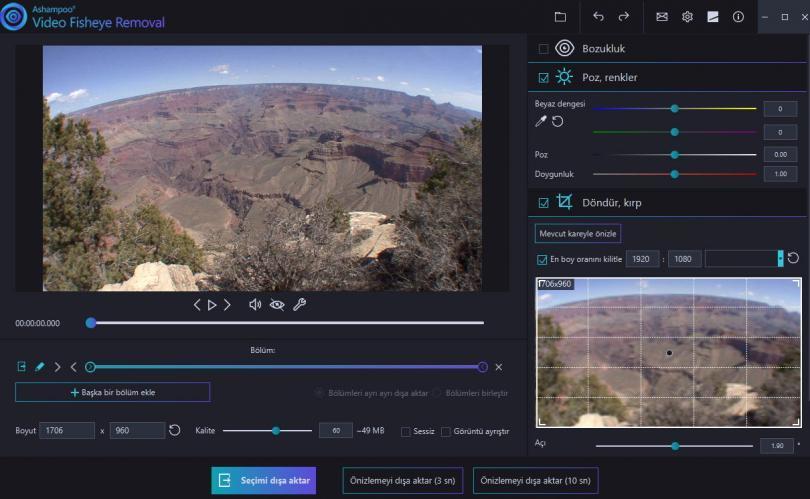 Video Fisheye Removal